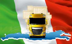 перевозка вещей в Италию